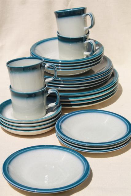 Vintage Wedgwood Dinnerware Set For 4 Blue Pacific Oven To Table Casual China & Wedgwood Dinnerware Patterns \u0026 Vera Wang Vera Flirt Sc 1 St Wedgwood