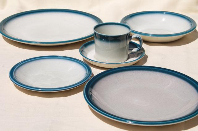 vintage Wedgwood dinnerware set for 4 Blue Pacific oven to table casual china & vintage Wedgwood dinnerware set for 4 Blue Pacific oven to table ...