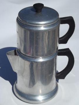 vintage West Bend Kwik Drip stovetop drip-o-lator coffee maker pot