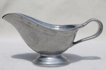 vintage Wilton Armetale marked RWP pewter gravy boat or sauce pitcher