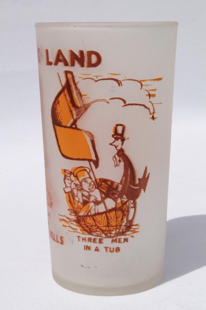 vintage Wisconsin Dells souvenir Storybook Land collectible drinking glass