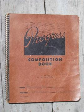 vintage Wisconsin farm kitchen notebook full of handwritten recipes