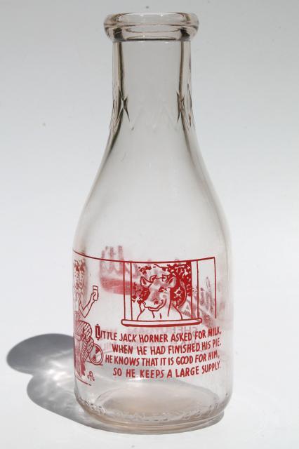Vintage Wisconsin Milk Bottle Freshest Milk Is The Best