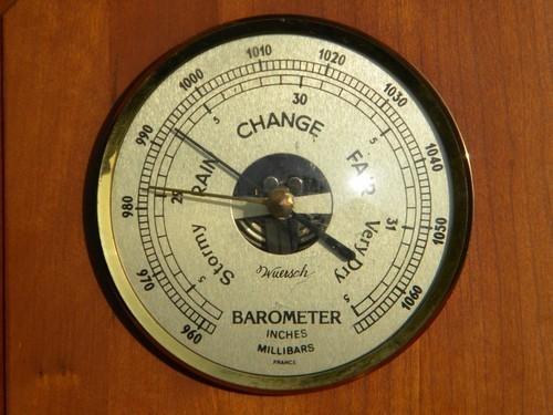 Vintage Wuersch Aneroid Barometer W Instruments Brass And