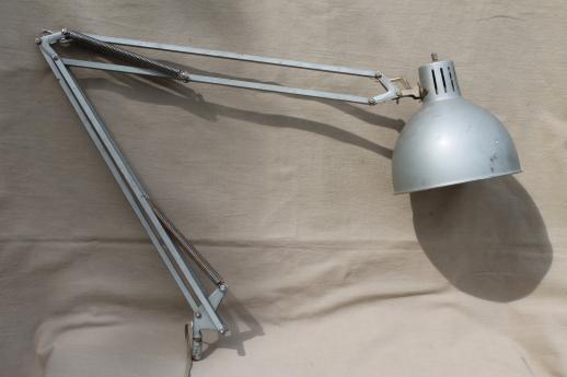 vintage adjustable work light or drafting table light. Black Bedroom Furniture Sets. Home Design Ideas