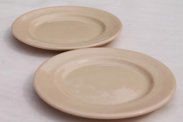 vintage adobe brown ironstone restaurant ware plates, Glo - Tan Carr China
