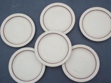 vintage adobe tan Syracuse ironstone china dinnerware, sandwich plates set