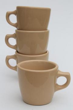 vintage adobe ware tan ironstone coffee cups, Inca Shenango restaurant china mugs