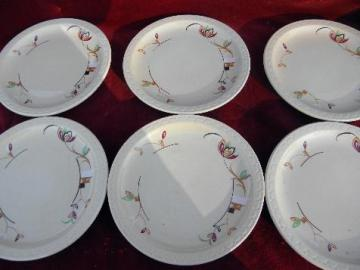 vintage adobe ware tan ironstone restaurantware deco flowers Syracuse china plates & old u0026 antique china plates u0026 dishes