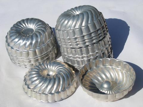 Vintage Aluminum Individual Gelatin Molds Jello Ring Mold