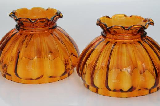 Vintage amber glass lampshades replacement shades for student lamp vintage amber glass lampshades replacement shades for student lamp or hanging light aloadofball Choice Image