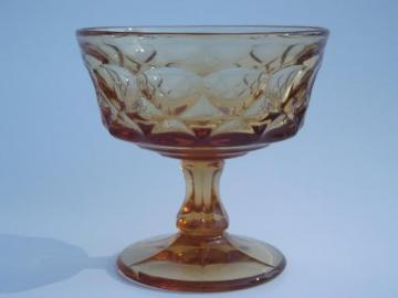 vintage amber glass sherbet glasses / champagnes, Noritake Perspective