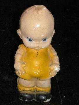 vintage angel baby chalkware carnival souvenir