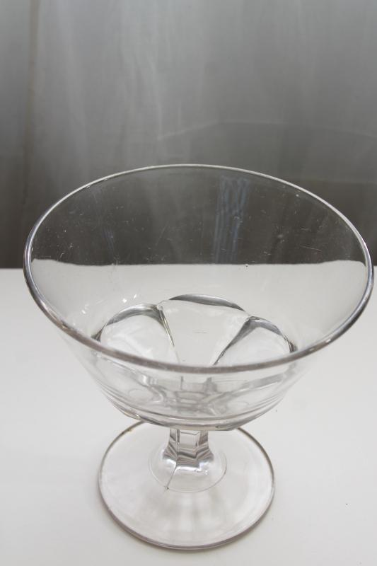 vintage apothecary jar, BIG glass candy dish early 1900s antique pressed glass