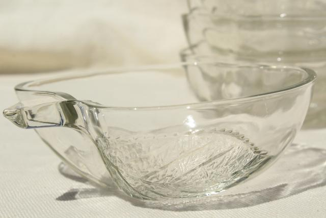 vintage apple shaped crystal clear glass salad bowls or dessert dishes, KIG Indonesia