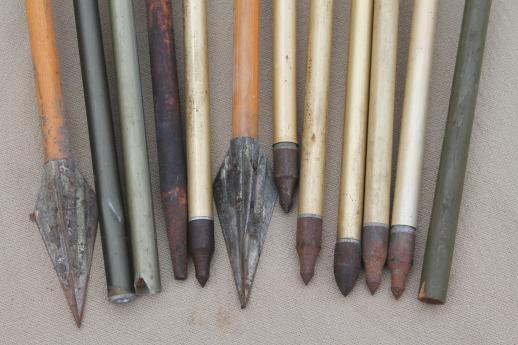 Vintage Arrows Assorted Old Wood Amp Metal Arrows Archery