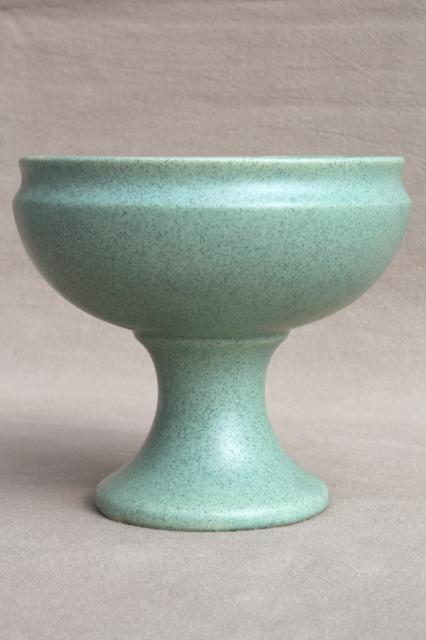 Vintage Art Deco Matte Green Pottery Planters Vases Mccoy