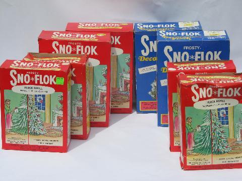 - Vintage Artificial Snow, Flake Sno-Flok Christmas Tree Spray Flocking