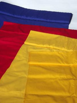 vintage banner bunting awning flag cotton duck fabric, red, blue, gold