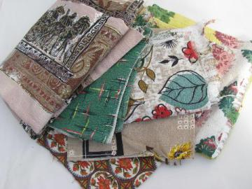 Vintage sewing notions feed sack fabric for Sewing fabric for sale