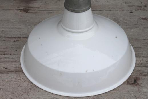 Vintage Barn Light W Porcelain Enamel Shade Appleton