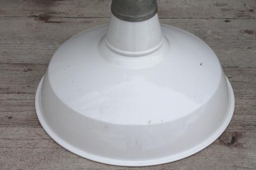 Vintage Barn Light W Porcelain Enamel Shade Appleton