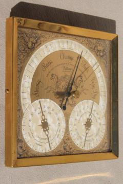 vintage barometer weather station, Longines Wittnauer watch company label