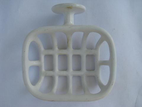 Vintage Bath Fixtures White Porcelain Iron Soap Dishestowel Bar