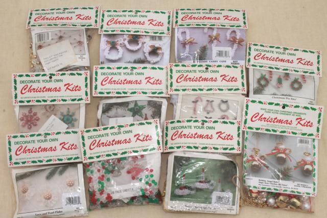 Vintage Bead Ornament Kit Lot Mary Maxim Kits To Make Beaded