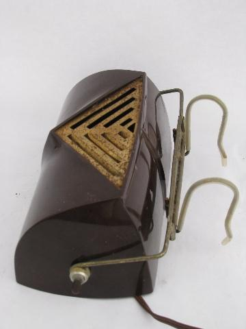 vintage bed light headboard reading lamp old brown shade plastic or. Black Bedroom Furniture Sets. Home Design Ideas