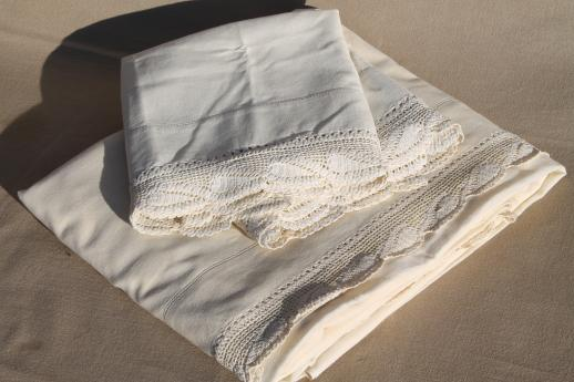 Lace Trimmed Bed Sheets