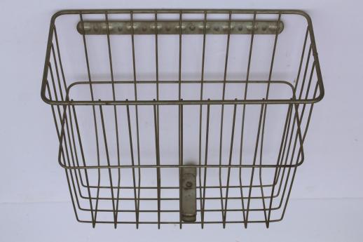 Vintage Bicycle Basket Rear Mount Saddle Baskets Androck