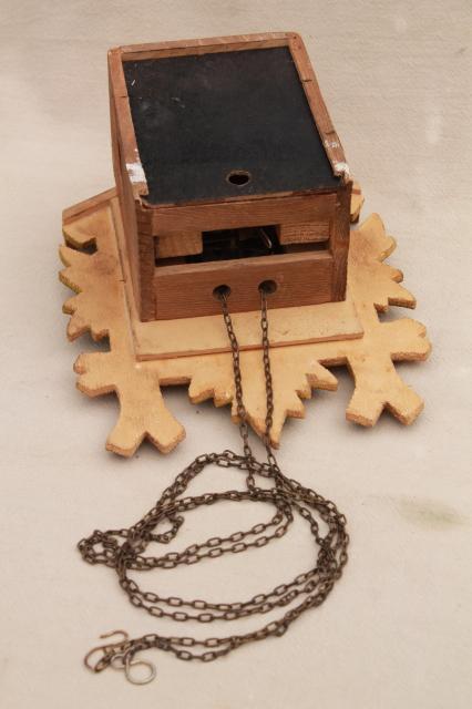 Vintage Black Forest Style Cuckoo Clocks Parts Clock Lot