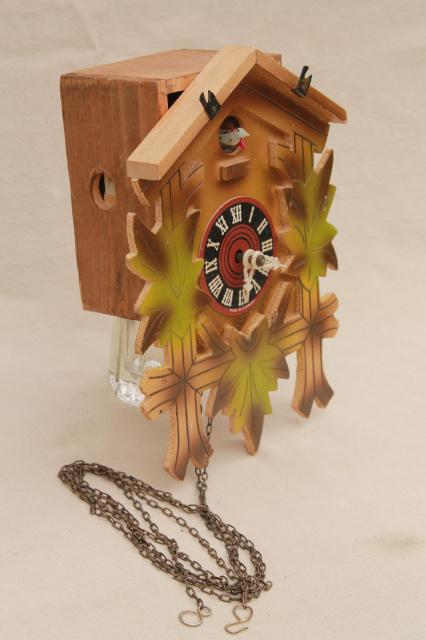clocks forest cuckoo vintage black