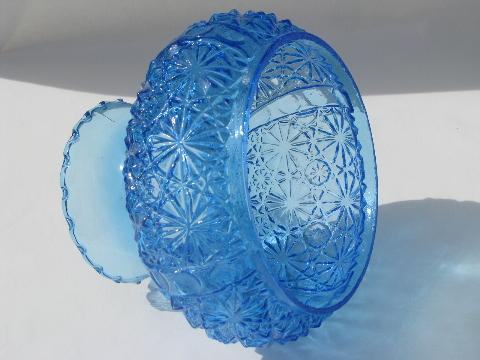 Vintage blue daisy button pattern glass replacement student lamp shade aloadofball Choice Image