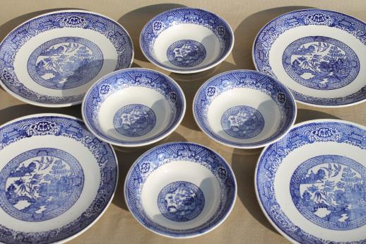 vintage blue willow dishes - soup bowls \u0026 dinner plates Royal china willow ware : royal china dinnerware patterns - pezcame.com