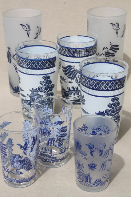 Antique Chandeliers For Sale >> vintage blue willow pattern vintage glassware, collection ...