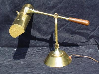 vintage brass adjustable desk or music room piano lamp