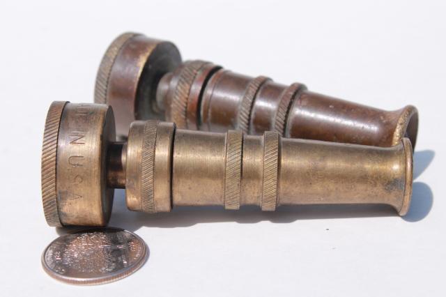 Vintage Brass Garden Hose Nozzles Solid Brass W