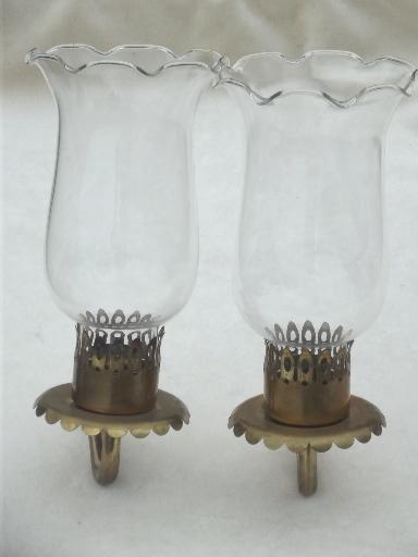 vintage brass sconce lamps / wall mount lights set, vintage lighting parts