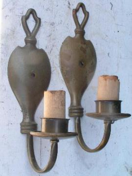 vintage brass wall sconces, Milwaukee