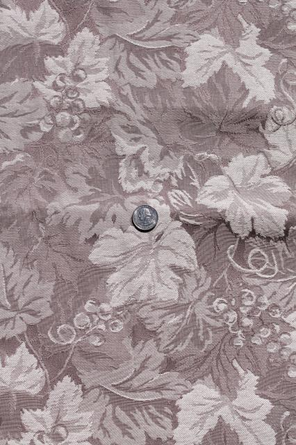 Vintage Brocade Fabric Remnants For Home Decor Sewing White Ivory Latte Brown Mocha