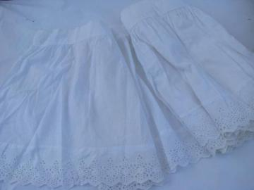 vintage broderie anglaise white cotton eyelet lace wide ruffle edging for baby bassinet