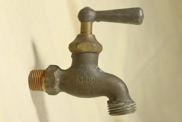 vintage bronze tap faucet, CALCO California Brass solid cast plumbing