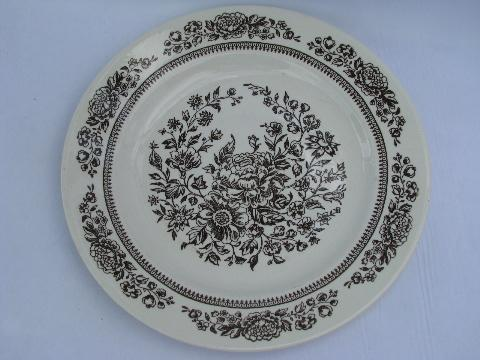vintage brown transferware Sussex pattern Royal ironstone