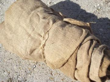 vintage burlap sacks, farm feed bags for primitive old print fabric