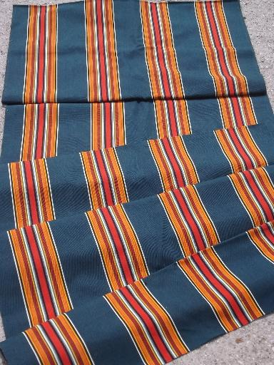 vintage camp awning stripe cotton canvas fabric for lawn chairs etc.