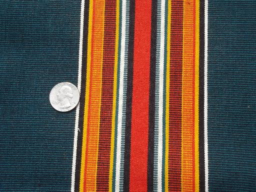 vintage camp awning stripe cotton canvas fabric for lawn ...