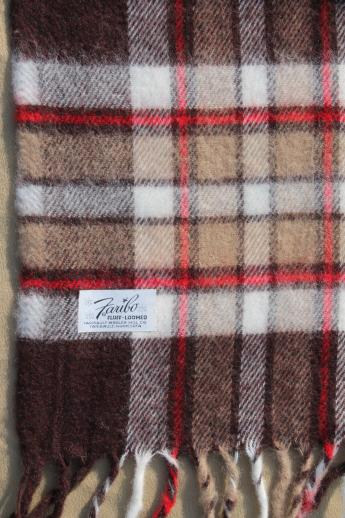 vintage camp blanket lot, plaid throw blankets for camping or stadium blankets