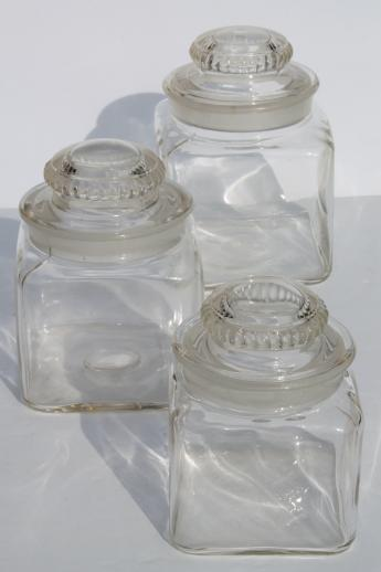vintage canister jar set old fashioned glass canisters or